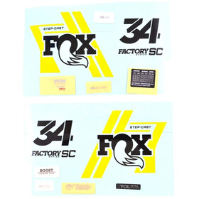 Fox Racing Shox Decal Kit for 34 SC Factory, black/yellow